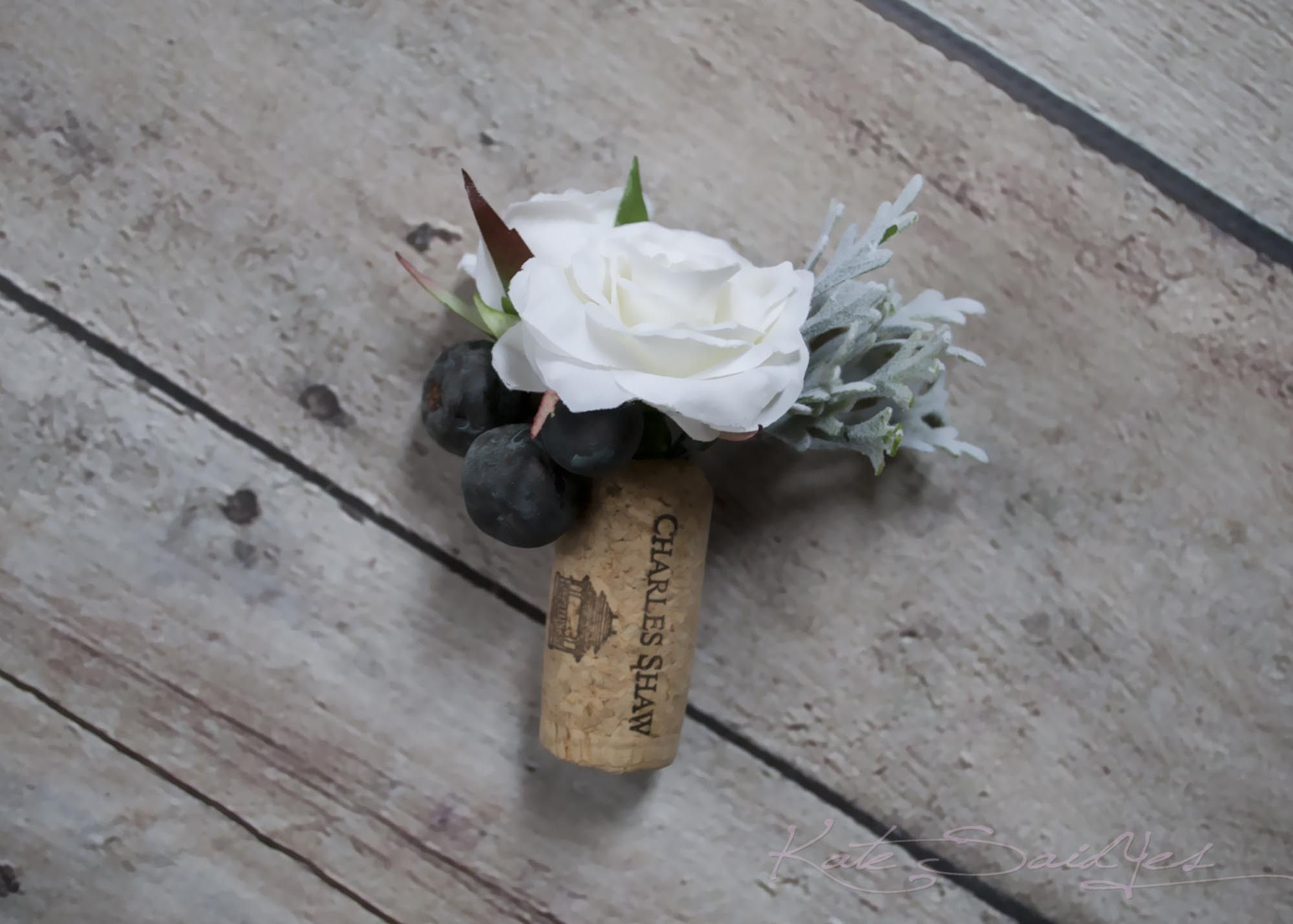 White Rose And Berry Wedding