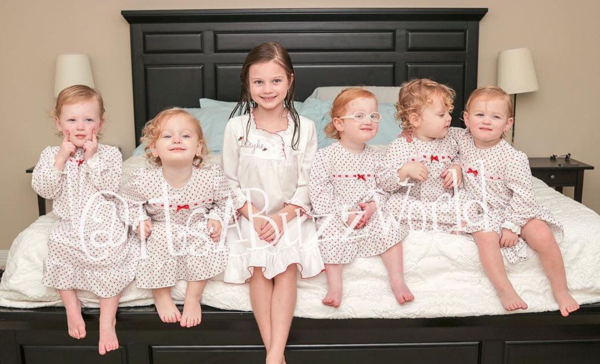 Outdaughtered In order: Parker, Ava, Blayke, Hazel, Olivia and Riley