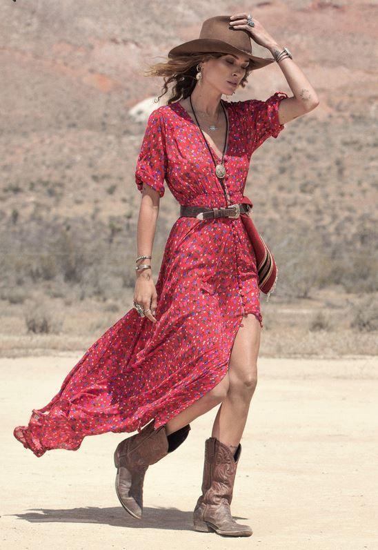 Western Cowgirl Dress | Western Fashion | Pinterest | Westerns, Boho ...