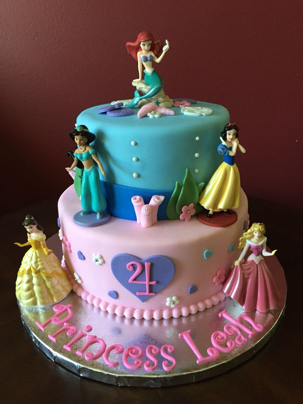 Excellent Disney Princess Birthday Cake Disney Princess Birthday Cakes Funny Birthday Cards Online Overcheapnameinfo