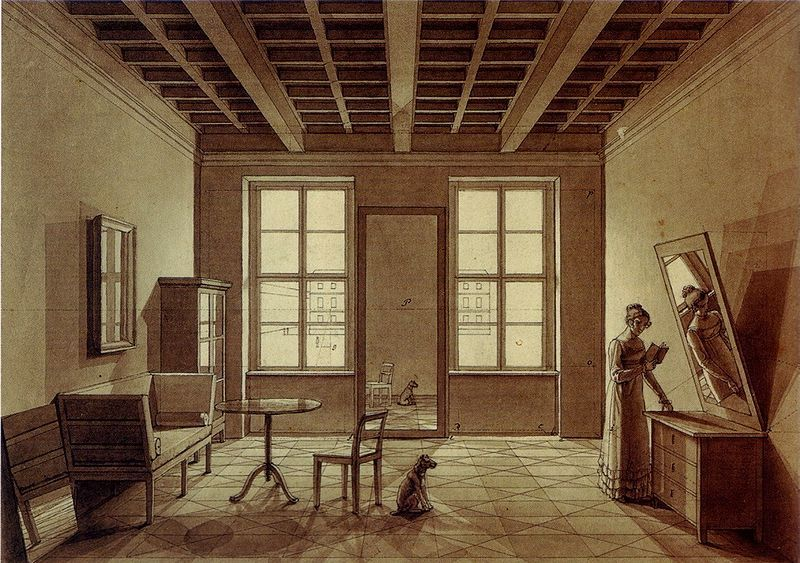A Zimmerbild Chamber Painting By Johann Erdmann Hummel Berlin Circa 1820 Mirror Mirror Art Georgian Interiors