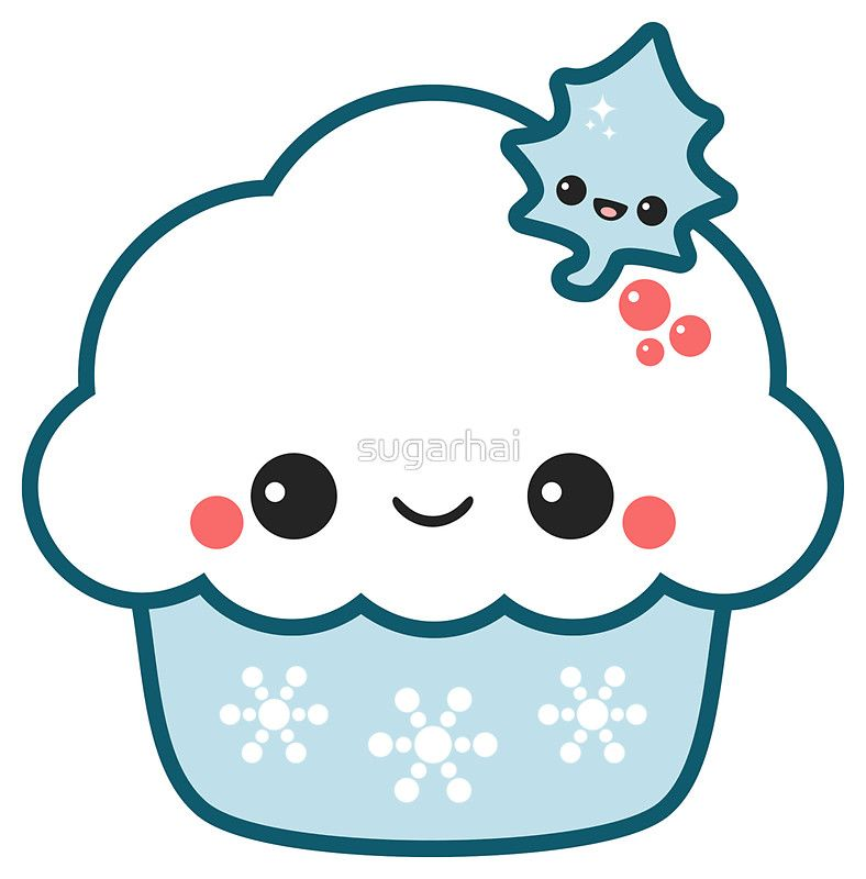 Snowflake Cupcake Sticker In 2019 Card Ideas Cute Stickers