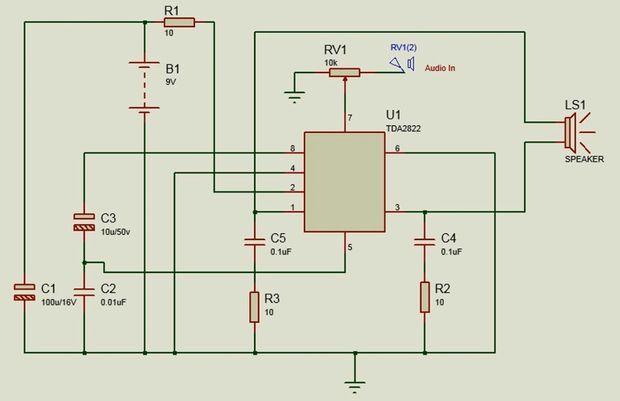 DIY Mini Amplifier Using TDA2822   Pinterest