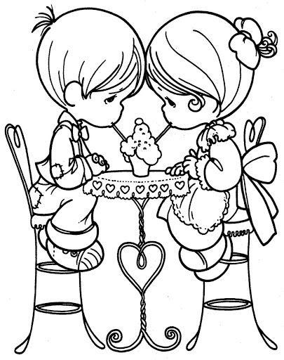 Unique kissing couple coloring pages - Google Search | Downloads and ...
