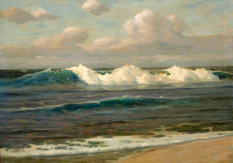 Oil Painting Seascape An Expansive Landscape With Ocean Waves Free Shipping Realism Ocean Art Painting Ocean Artwork Seascapes Art