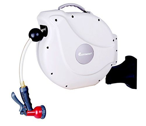 Gartenkraft Retractable Garden Hose Reel 1 2 100 White Https Www Amazon Com Dp B06xhrmgk Retractable Hose Garden Hose Reel Retractable Garden Hose Reel