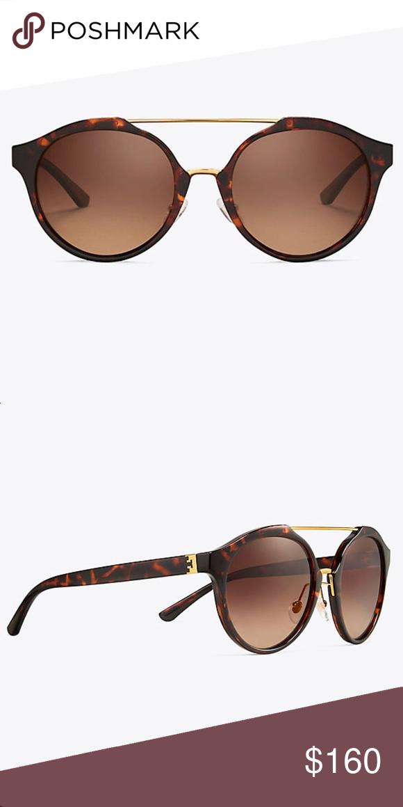 cbed7de767b4f Tory Burch Double-Bridge Sunglasses Tortoise   Gold Double-Bridge Sunglasses  w  Case   Gift Wrapping Tory Burch Accessories Sunglasses