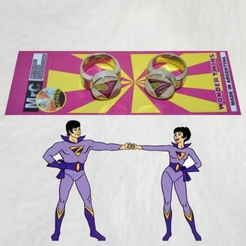Set Wonder Twins Metal Rings Of Jayna Amp Zan Dc Super Friends Powers Exclusive Wonder Twins Twins Metal Rings