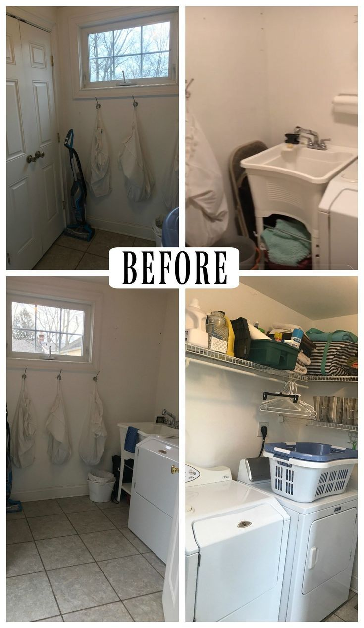 laundry room makeover with tempaper removable wallpaper on laundry room wall covering ideas id=52885