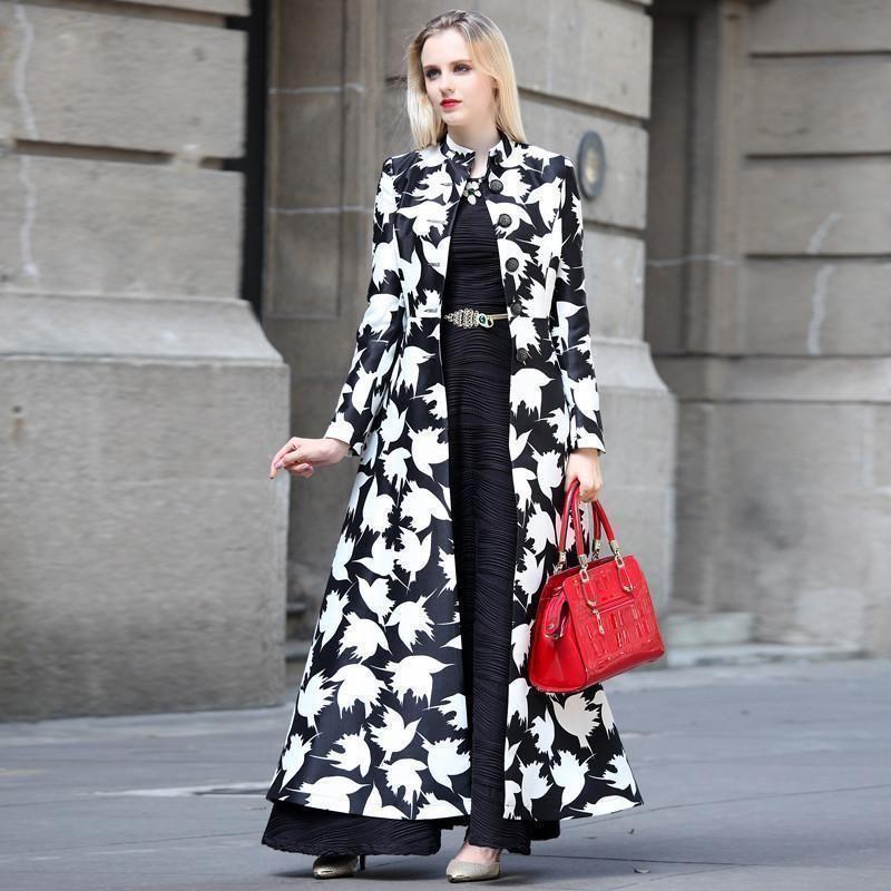 6041eda43c4 Buy Women Floral Maxi Coat