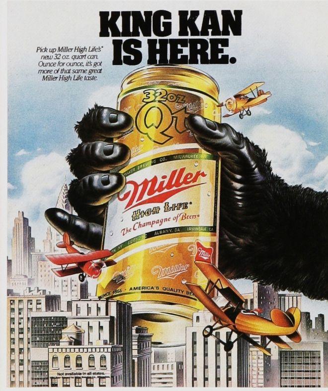 1980/'s ADVERTISING POSTER BUDWEISER ORIGINAL