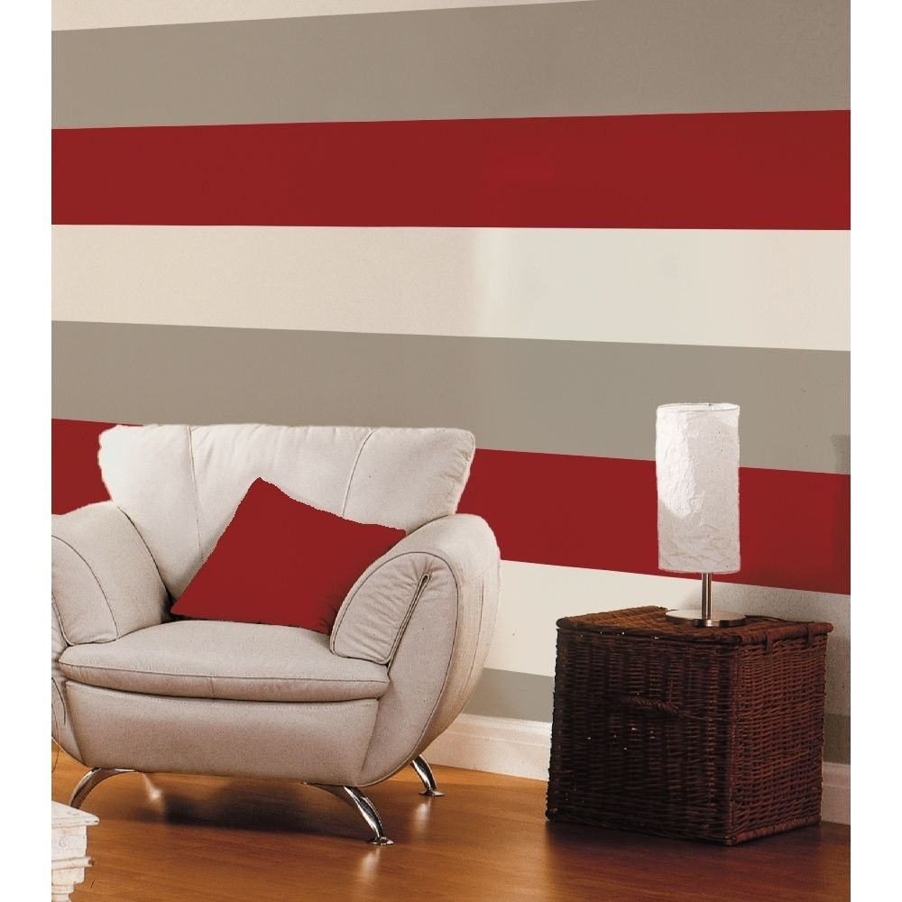 Direct Stripe 3 Colour Motif Textured Designer Vinyl Wallpaper