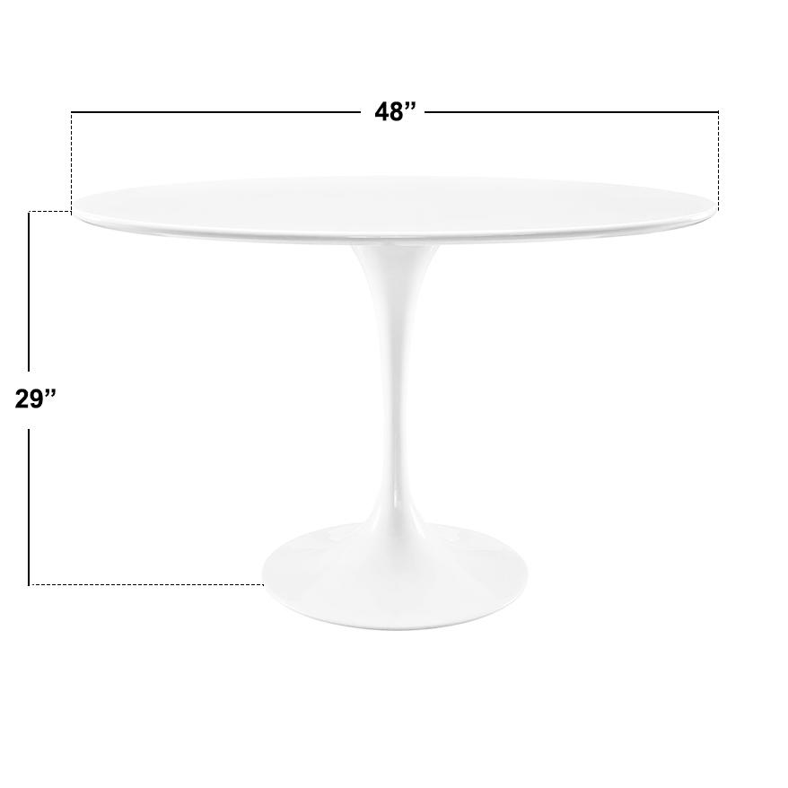 Saarinen Tulip Table With Stain Resistant 48 Round Fiberglass Top