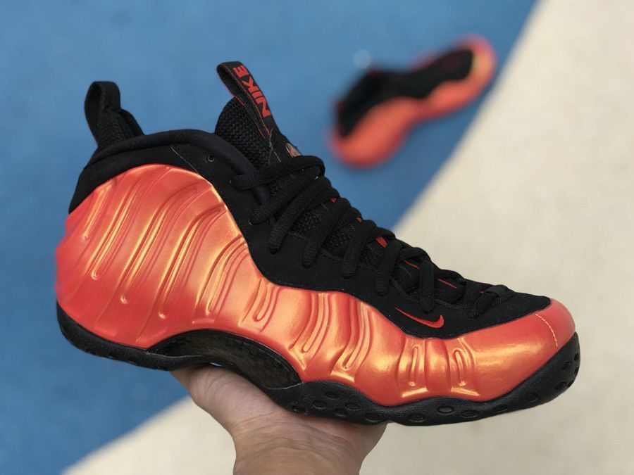 cd38b98d0cd This Nike Air Foamposite One features a Habanero Red and Black color  combination.