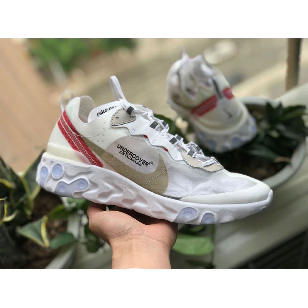 hot sale online c56e5 1db36 ... good undercover x nike epic react element 87 hyaline big red white  aq1813 345 2789e 092aa