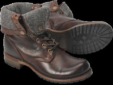 Ian Tall Boots Chocolate Harness by Vintage Shoe Company | Fashion