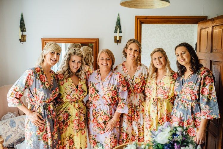 Dressing Gowns Floral Bride Bridesmaids Natural Mismatched Home Made Wedding http://www.mattbrownphotography.co.uk/