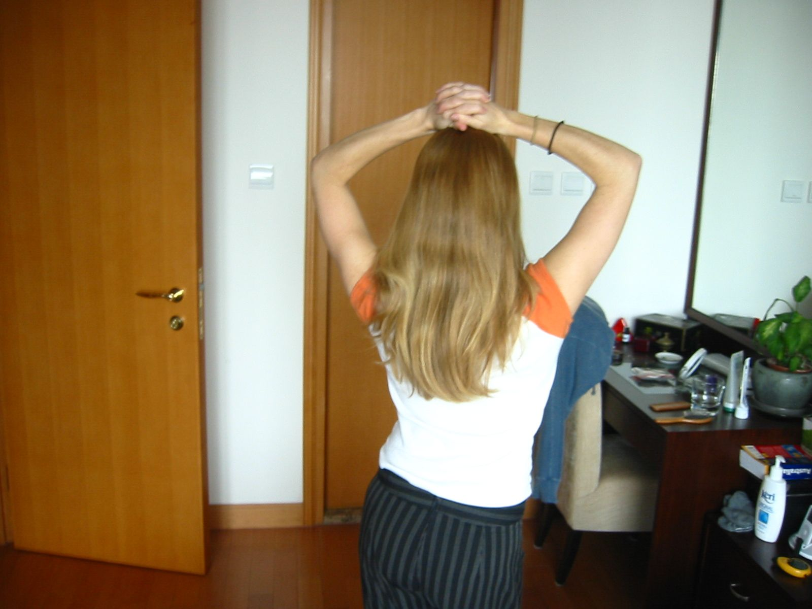 My hair before the experiment.