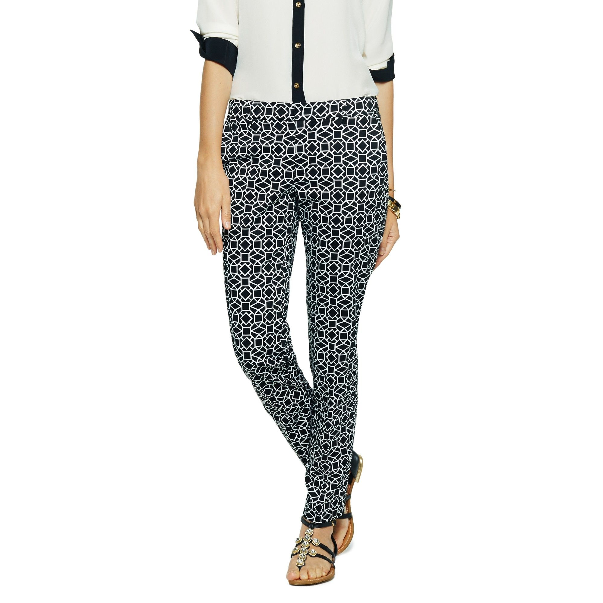 Love this Geo Tile Cropped Pant for $98 on C. Wonder