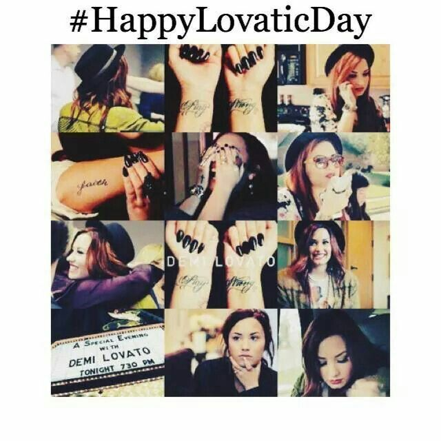 Lovatic day. She is strong