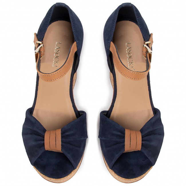 Sandaly Lasocki 2190 05 Cobalt Blue Koturny Klapki I Sandaly Damskie Eobuwie Pl Cobalt Blue Blue Shoes