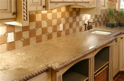 Rope Edge Sand Concrete Countertops Stone Passion Starting To