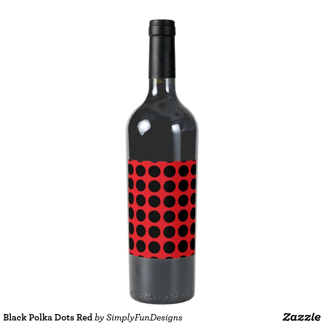 Black Polka Dots Red Wine Label Personalized Wine Bottles Personalized Wine Labels Wedding Wine Labels