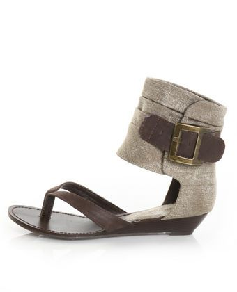 6e61e1102 Bamboo Denisa 25 Brown Buckled Ankle Cuff Thong Sandals  shoes  sandals   summer