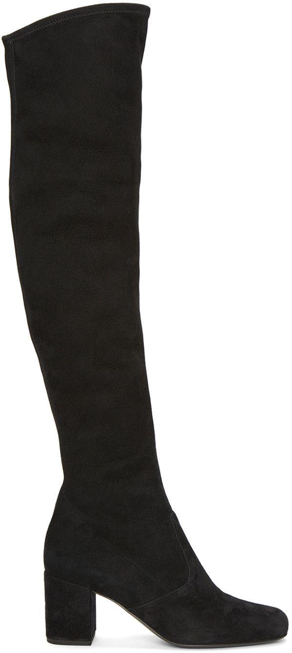 6a70fc9e1f0 Saint Laurent - Black Suede Babies Boots