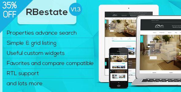 RBestate - Real Estate with MLS IDX Listing WordPress Theme + RTL
