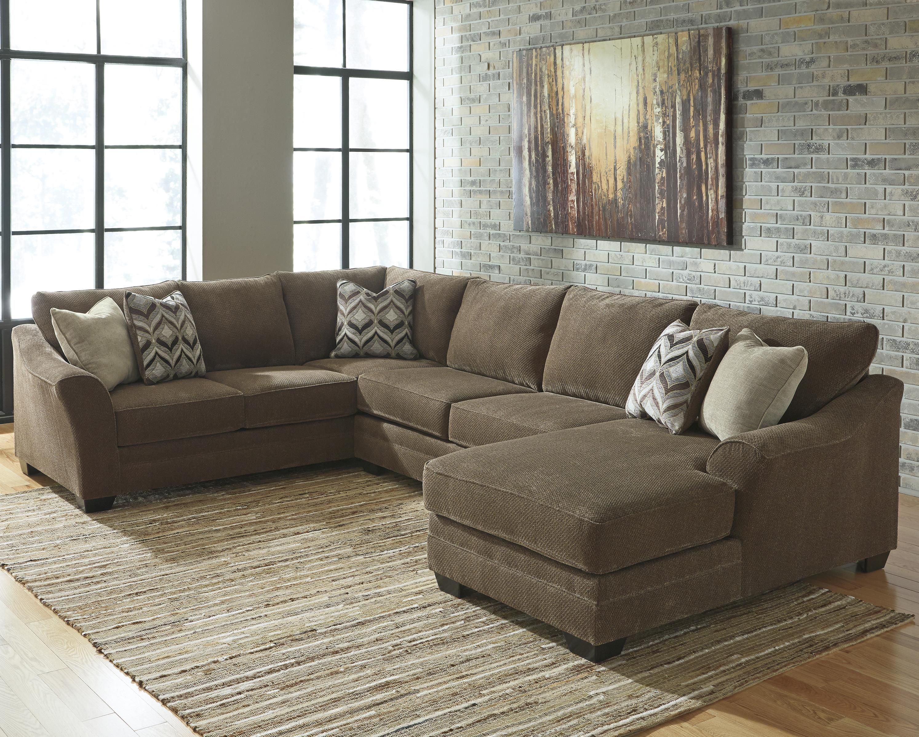 Meubles Ashley Floride Benchcraft By Ashley Justyna Contemporary 3 Piece Sectional With