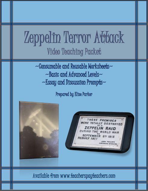 Zeppelin Terror Attack Wwi Video Quiz Worksheet Teaching Packet