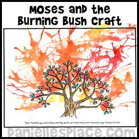 Moses And The Burning Bush Bible Craft For Sunday School From Daniellesplace