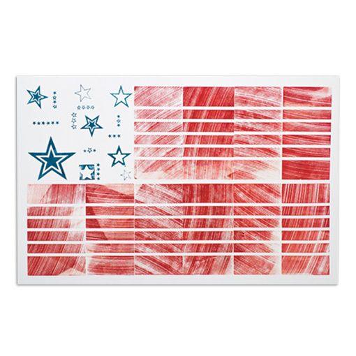 "American Flag 13.75"" x 9"" Letterpress Print - Neighborly"