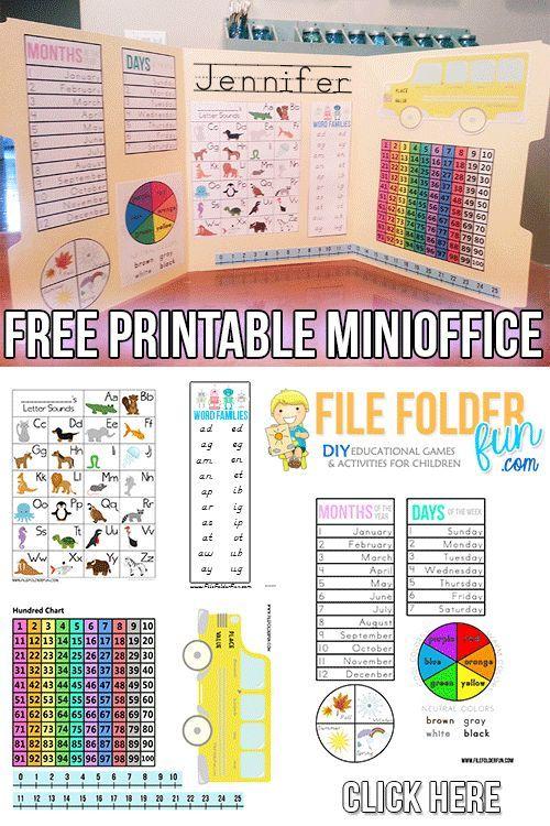 Free Mini-Office Printables (PreK-3) in 2018 | teaching ideas ...