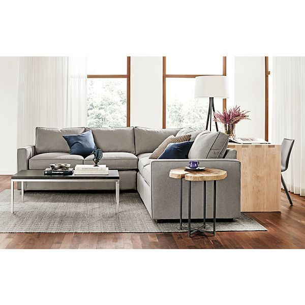 York Three-Piece Sectional Living Room - Living - Room & Board Desk Behind Sofa