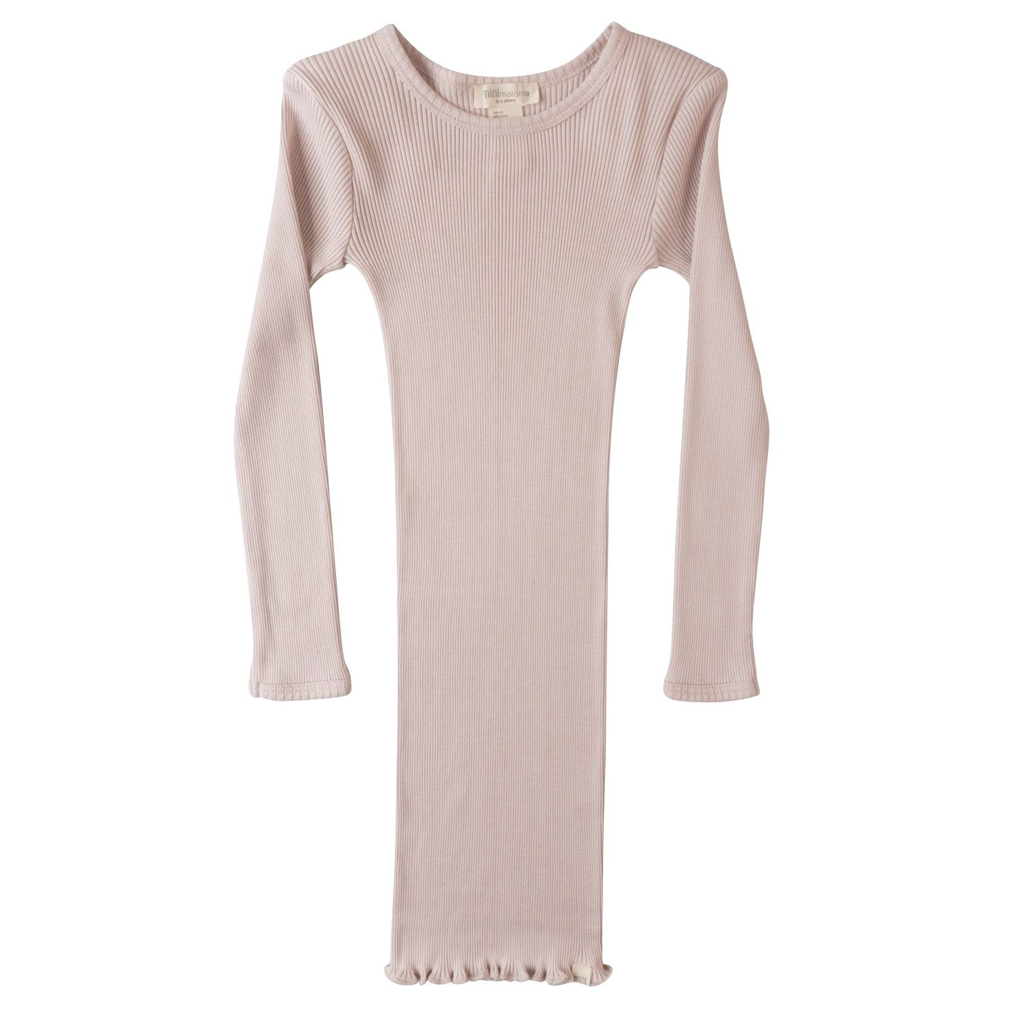 a65a84faed6b Lækker natkjole fra Minimalisma. Kjolen er i den blødeste ribkvalitet af  70% silke og