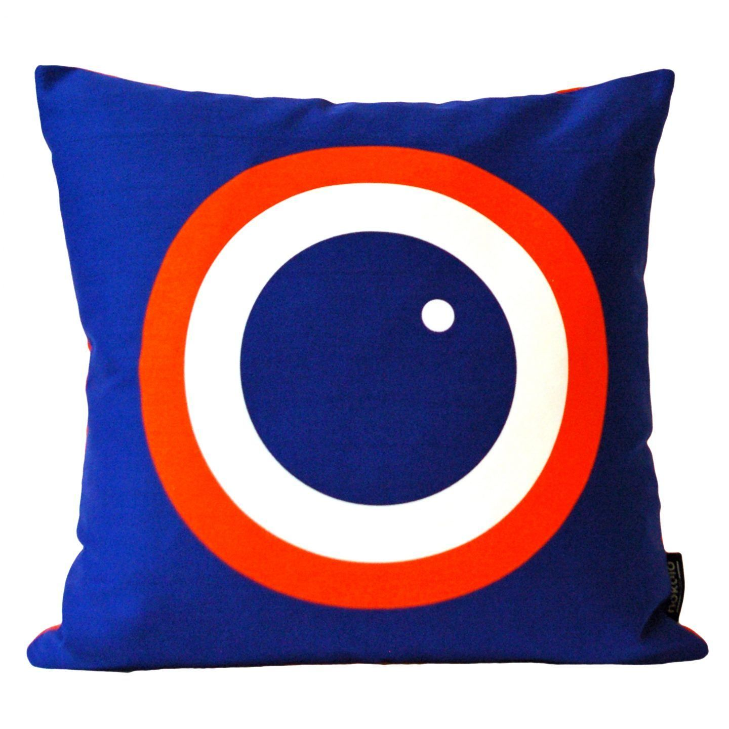 English Breakfast Printed Cushion  Blueberry is part of Scandinavian Home Accessories Pillows - English Breakfast Printed Cushion is screen printed and handmade in England  It's made from100% cotton drill  Sizes 40 x 40 cm  Please note we only ship cushions with inserts within the UK  Sorry for the inconvenience