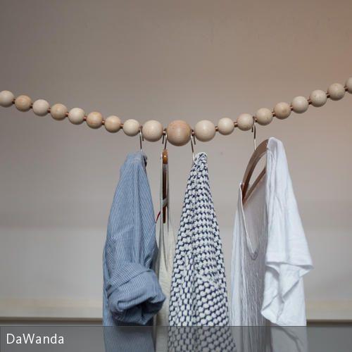 Simpel Und Stylisch: DIY-Garderobe Aus Holzperlen In 2019