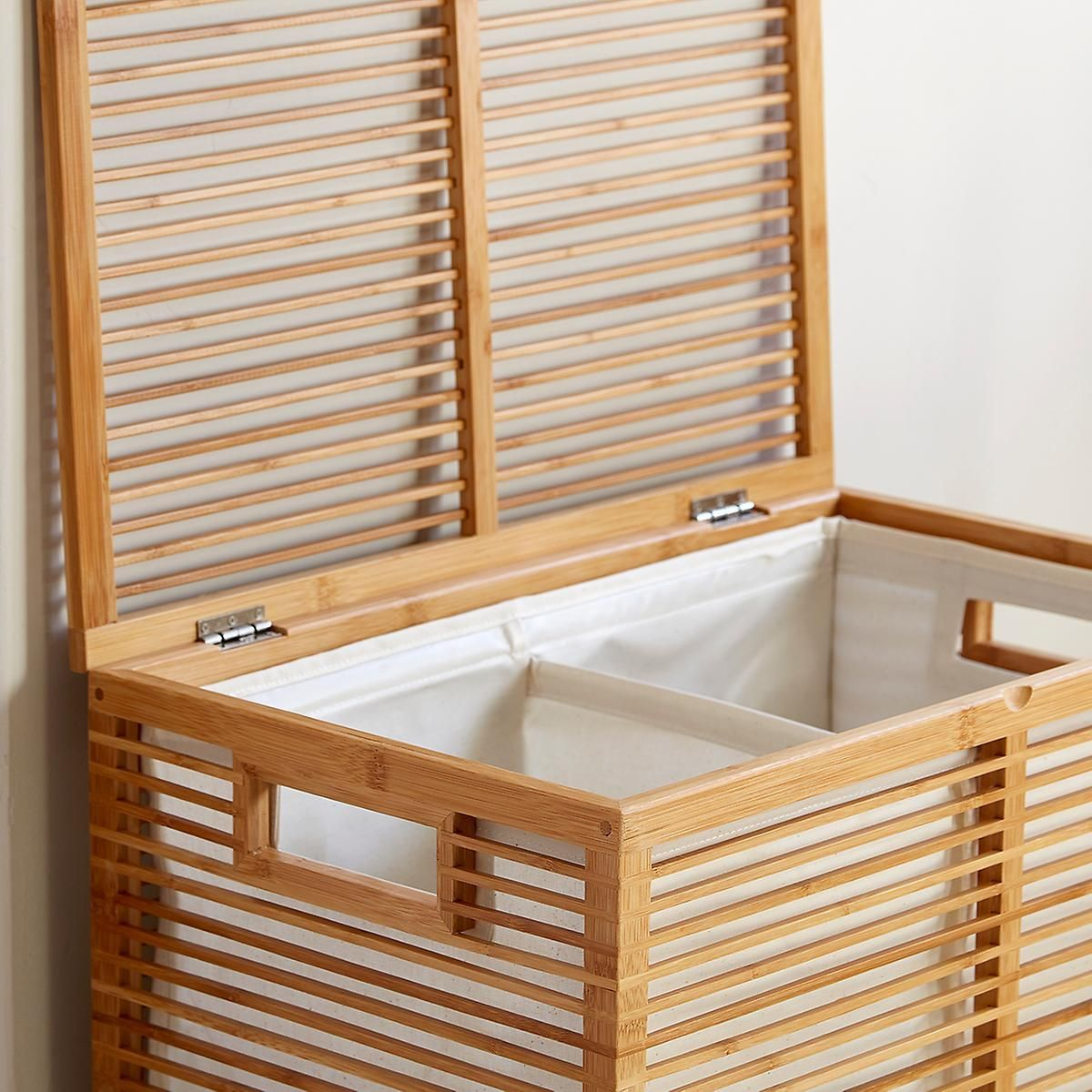 Our Zen Bamboo Laundry Hamper Is A Stunning Solution For Containing Laundry It S So Well Designed You Won T W Laundry Hamper Hamper Laundry Room Organization