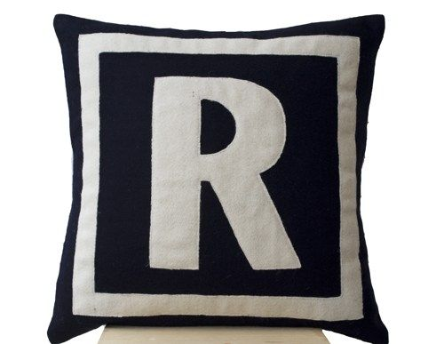 initial pillow - Google Search