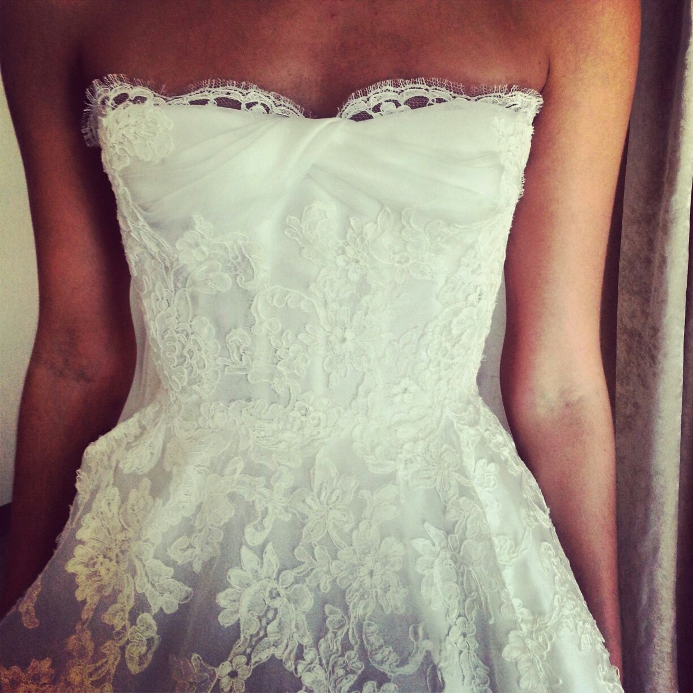 New York Times Wedding: Oscar De La Renta Wedding Dress, Fall 2014 Collection