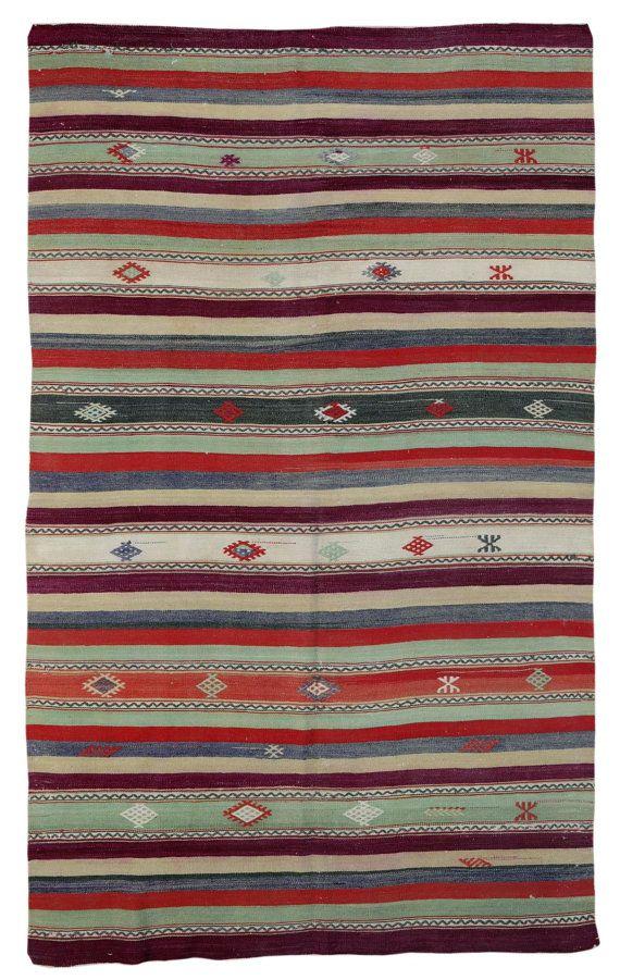Kilim Rug Turkish Striped