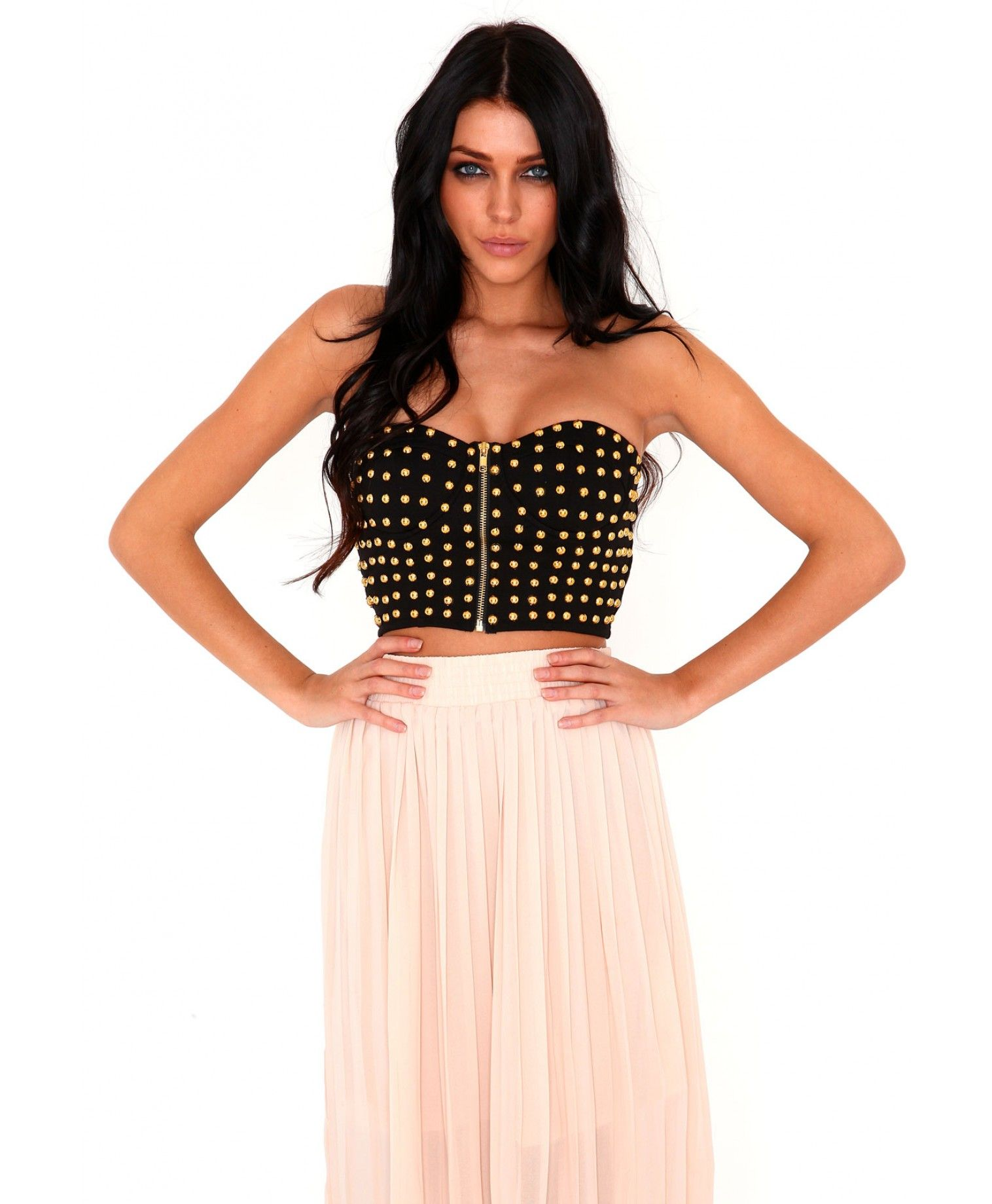 Daina Stud Bust Bralet-tops-missguided
