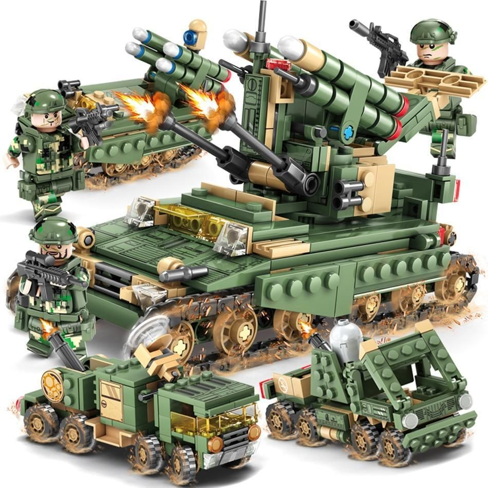Product Description Featuresblocks Name 4in1 Army V2 Anti Missile