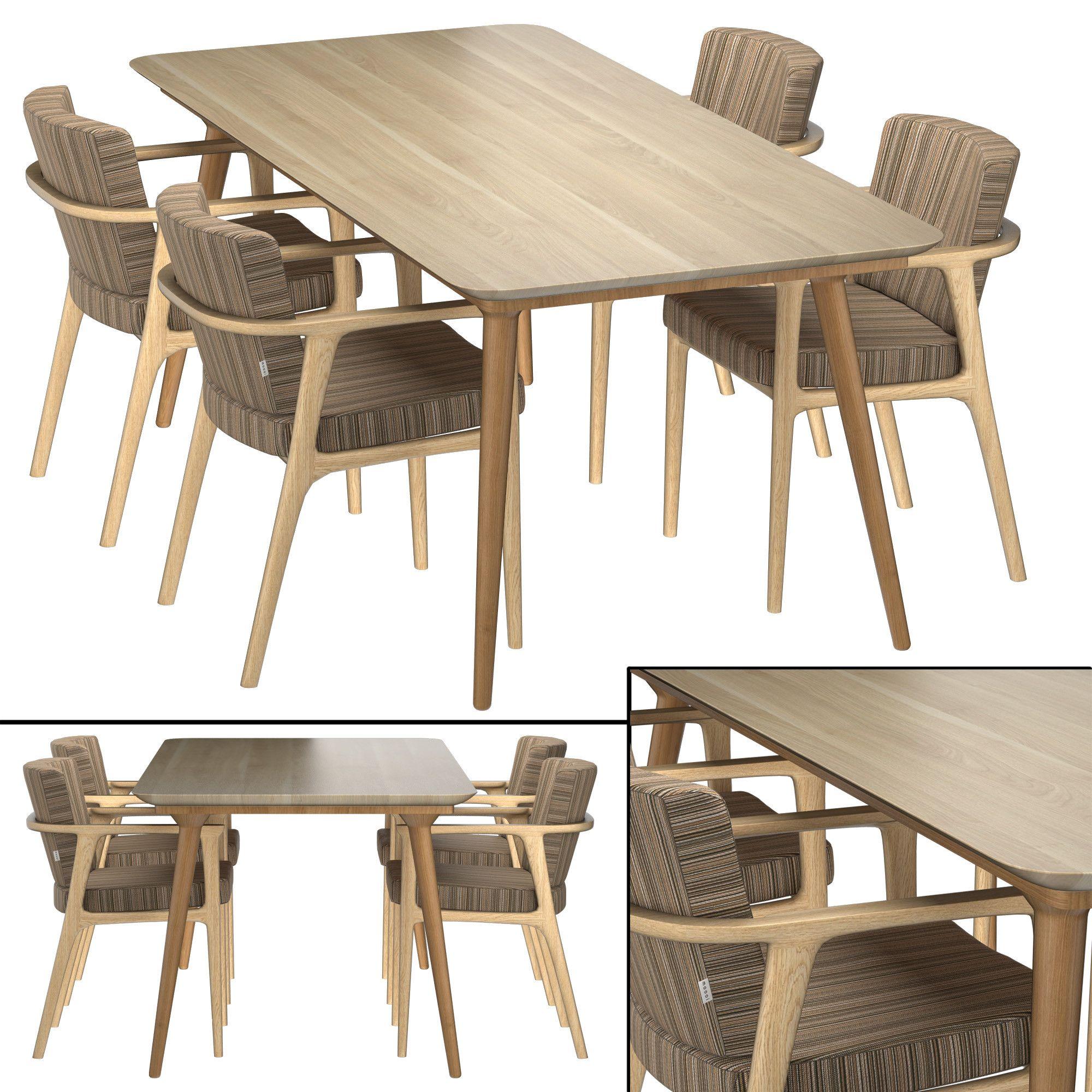 Max Zio Dining Table 3d Model Sala De Jantar 3d Max Moveis