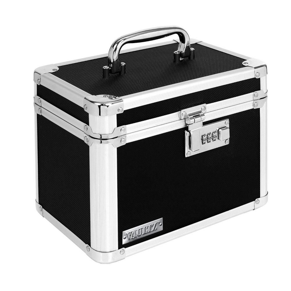 Vaultz Locking Small Storage Box Black Combination Lock Small Storage Boxes Lockable Storage Box Combination Locks