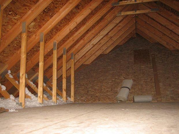 How To Install Blown In Cellulose Insulation Attic Renovation Attic Storage Attic House