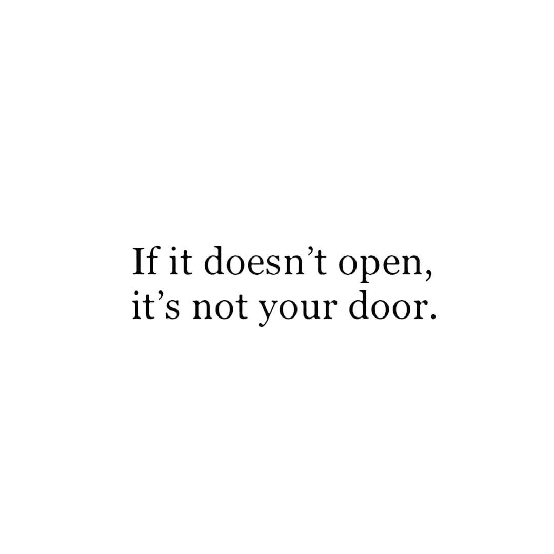 Ali Skogsberg On Instagram Don T Try To Pick The Lock When It S Meant For You You Won T Have To Force It Personal Quotes Inspirational Quotes Quotes