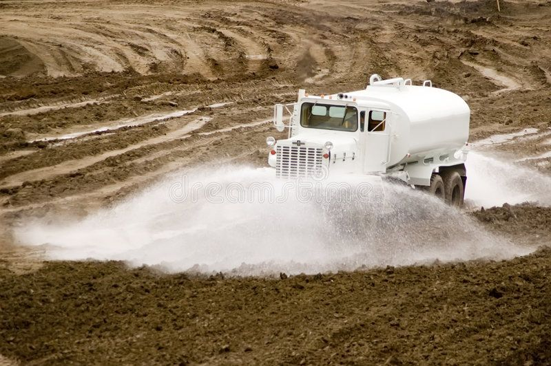 Water Truck Construction Site Water Truck Watering Down Development Area Affiliate Construction Site Water Tru Water Construction Site Stock Photos